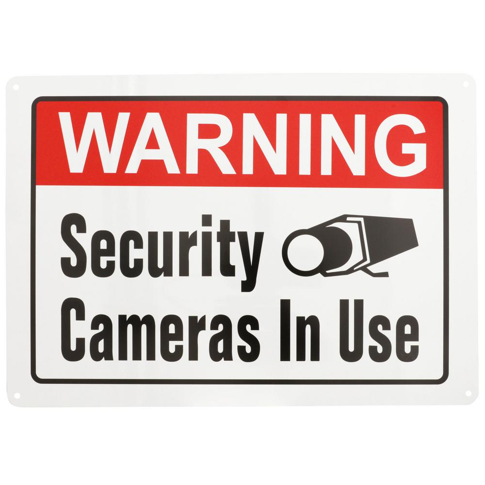 Everbilt 10 in. x 14 in. Security Cameras In Use Sign