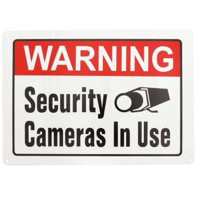 10 in. x 14 in. Security Cameras In Use Sign