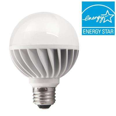 25W Equivalent Soft White (2700K) G16.5 Medium base Dimmable Frosted LED Light Bulb (2-Pack)