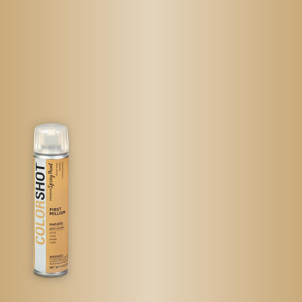 COLORSHOT COLORSHOT 9 oz. Metallic First Million Gold General Purpose Aerosol Spray Paint