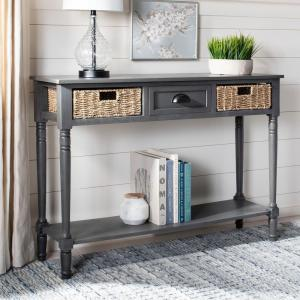 Groovy Safavieh Winifred Grey Storage Console Table Amh5730A The Ibusinesslaw Wood Chair Design Ideas Ibusinesslaworg