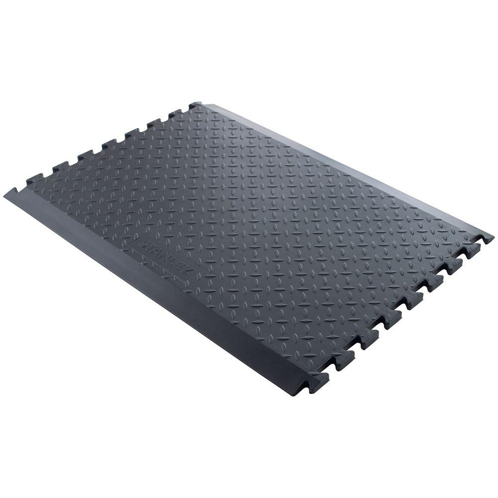 Stanley 24 in. x 33 in. Black Anti-Fatigue Extendable Long Middle Utility Mat