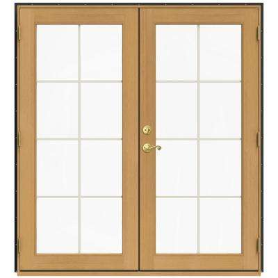 71.5 in. x 79.5 in. W-2500 Chestnut Bronze Left-Hand Inswing French Wood Patio Door