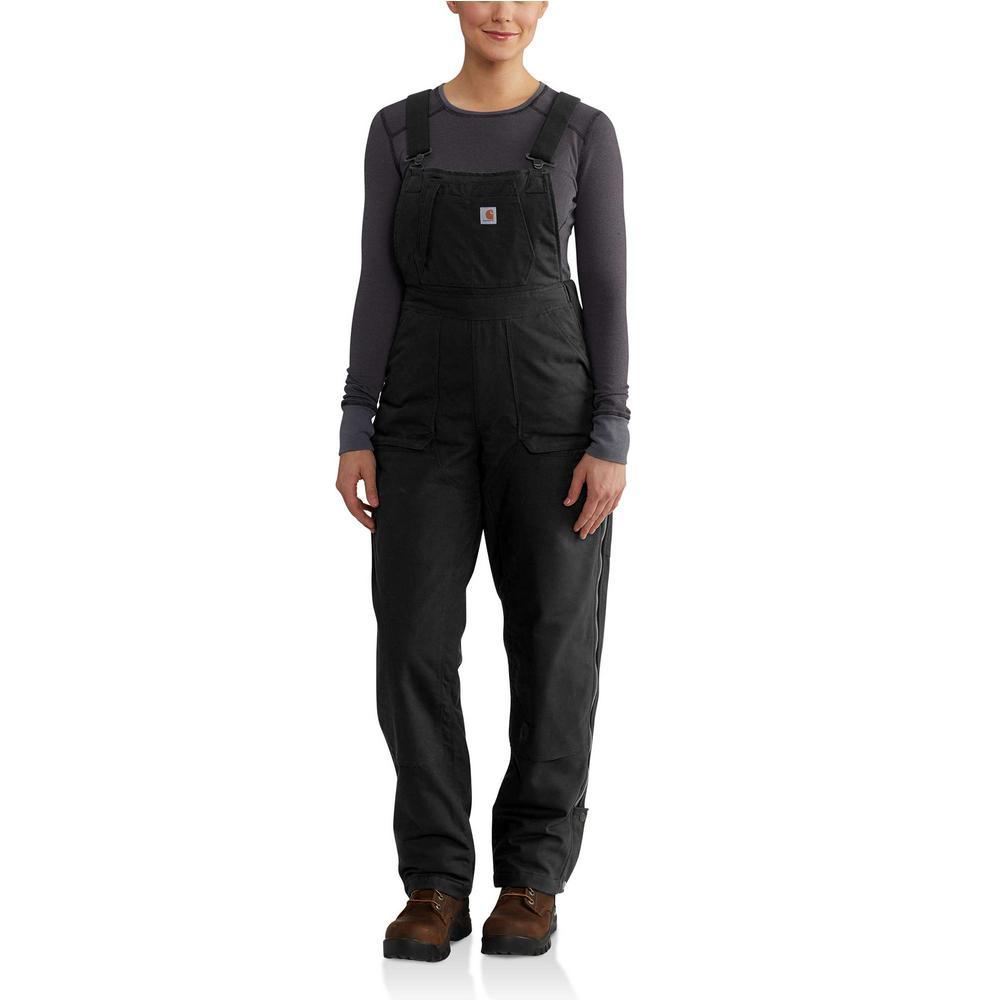 eba676c1 Women's Small Black Cotton/Polyester/Spandex Full Swing Cryder Bib Overalls