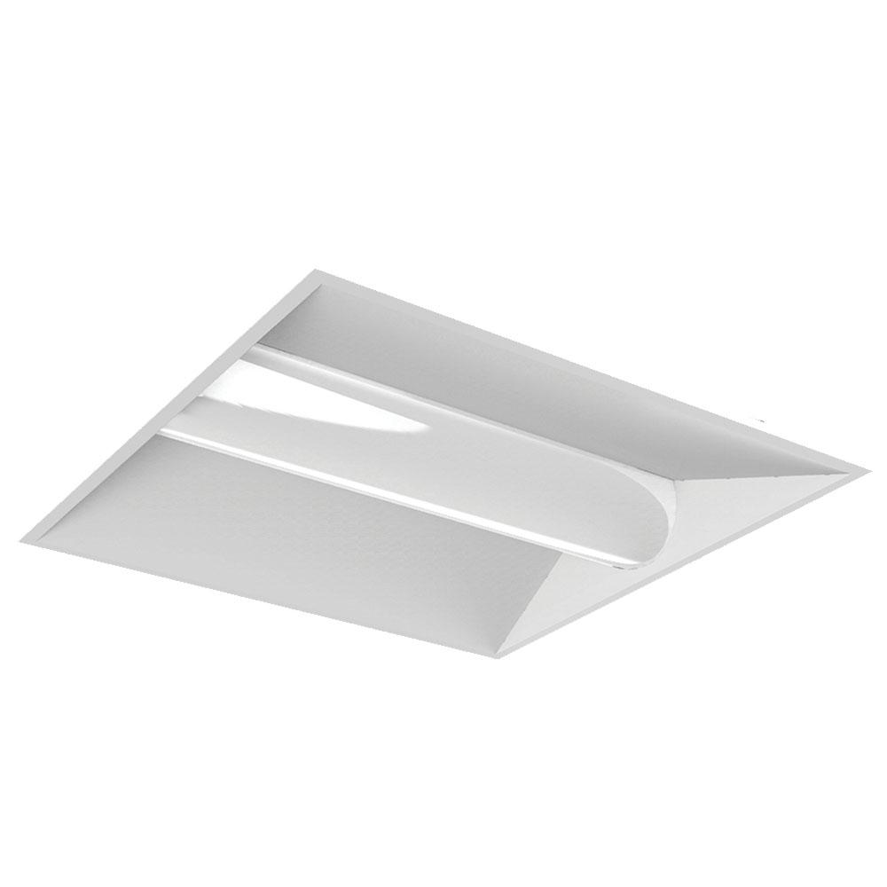 64-Watt Equivalent White 2 ft. x 2 ft. Volumetric Panel Integrated