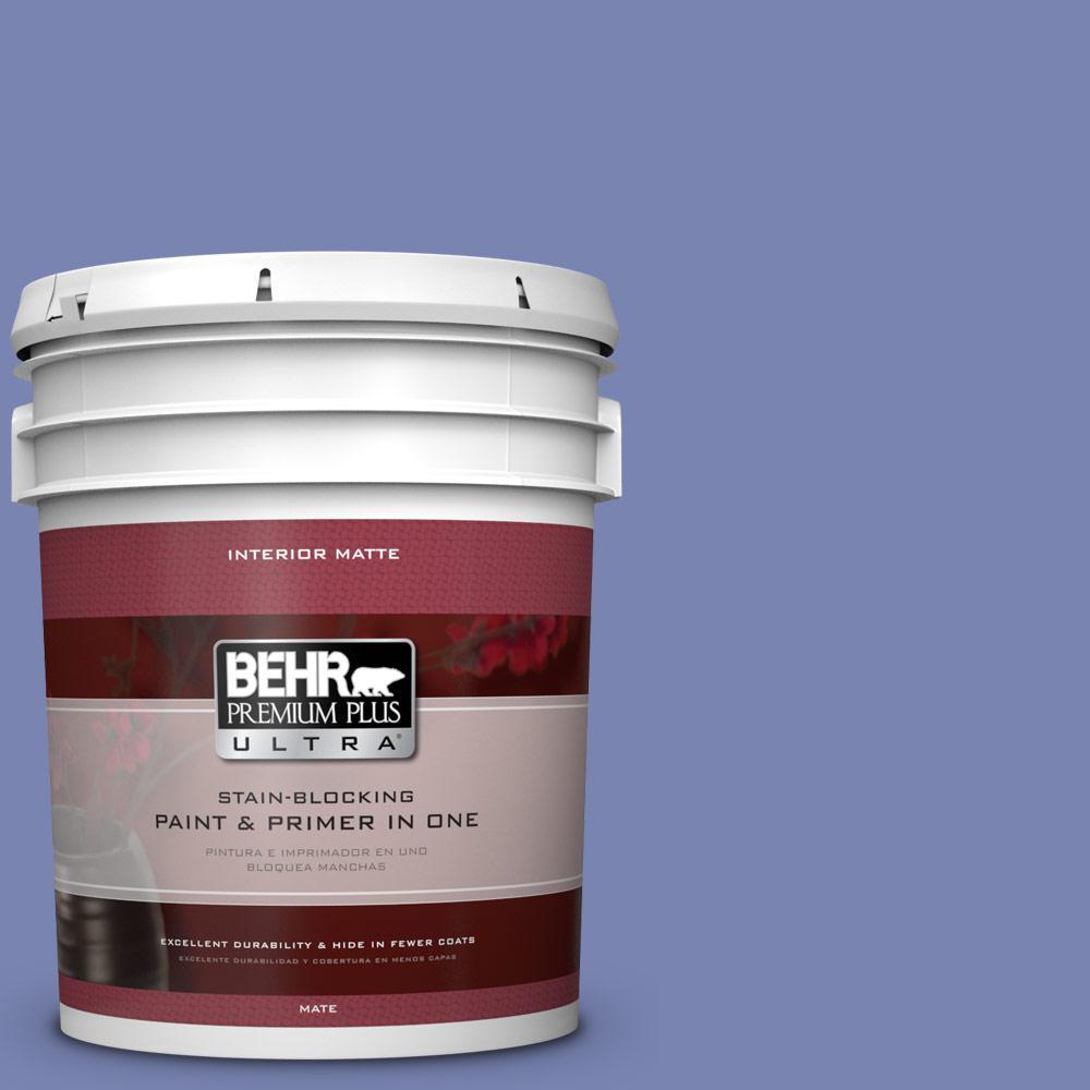 BEHR Premium Plus Ultra 5 gal. #610B-5 Corsican Purple Flat/Matte Interior Paint