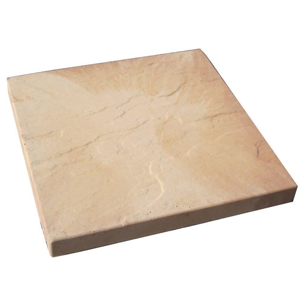 16 in. x 16 in. Tan Blend Sandcrete Concrete Step Stone