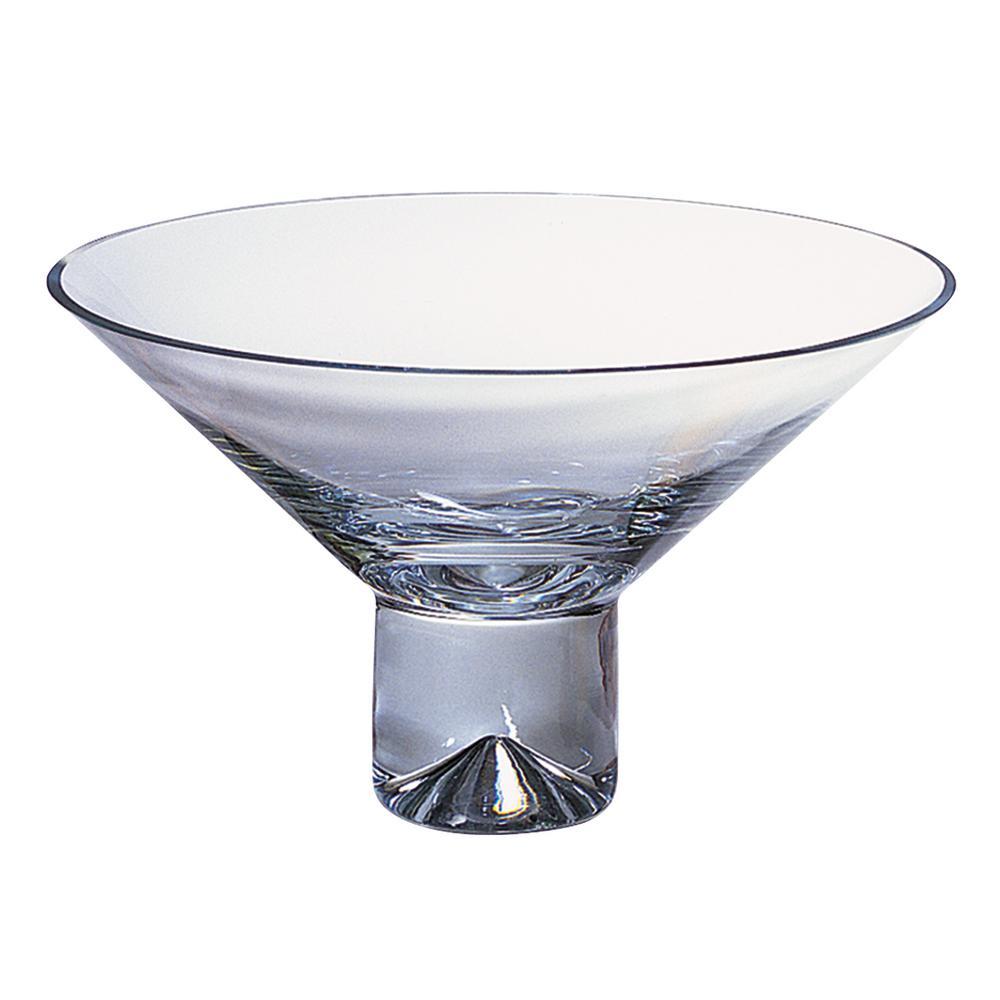 Clear 12 in. Monaco European Mouth Blown Crystal Pedestal Bowl