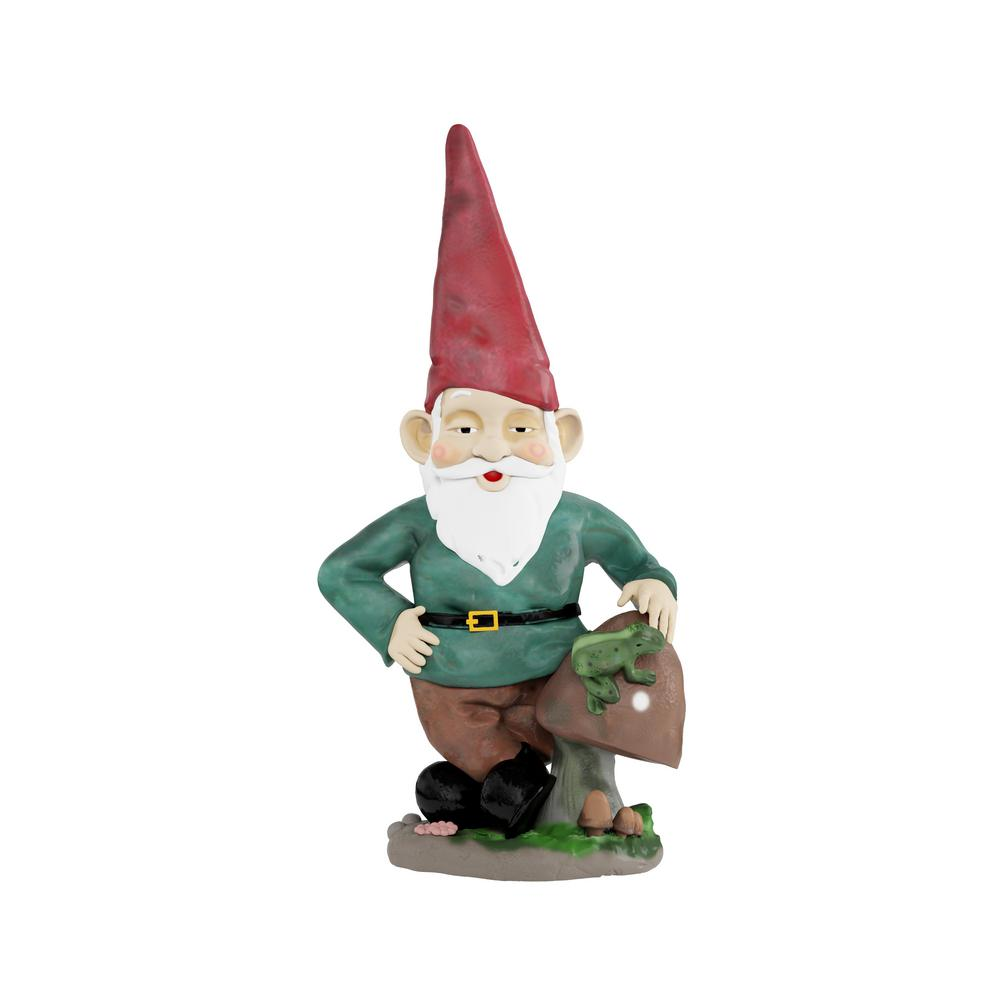 Gnome In Garden: Pure Garden Lawn And Garden Gnome Statue-HW1500133