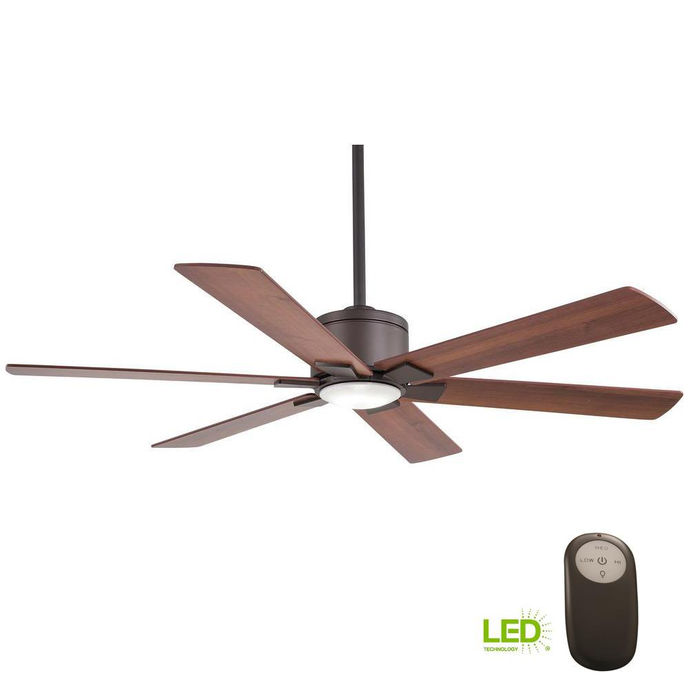 Home Decorators Collection Renwick 54 In Integrated Led Indoor Oil Rubbed Bronze Ceiling Fan With