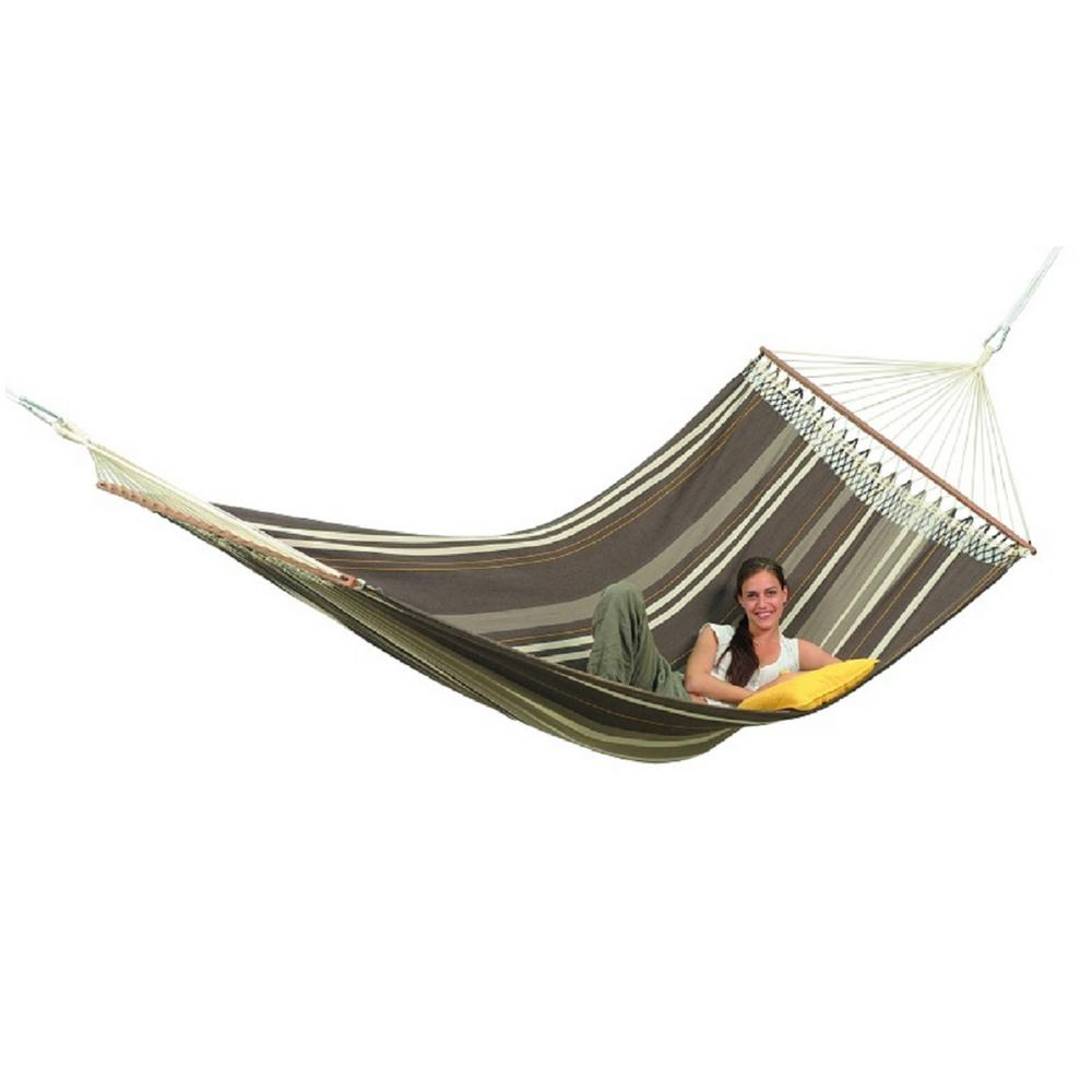 Medium image of byer of maine 11 ft  10 in  cotton poly blend hammock in cafe a102311   the home depot