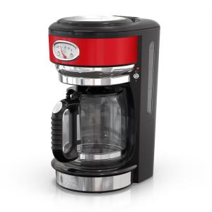 787d0006e6af Russell Hobbs Retro Style 8-Cup Coffeemaker in Red and Stainless  Steel-CM3100RDR - The Home Depot