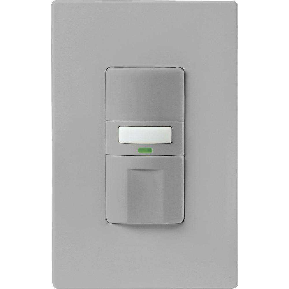 Eaton Motion Activated Vacancy Sensor Wall Switch White Vs310u W K Light Switches Cooper Wiring Devices 15amp Gray Double Pole Customer Reviews