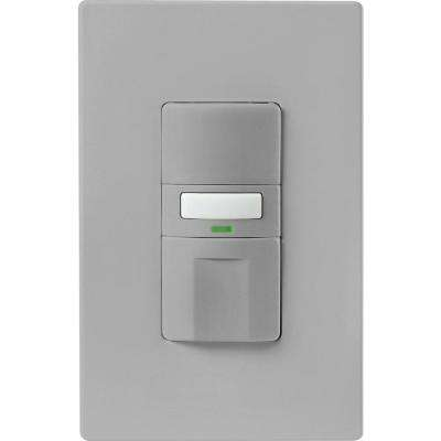 Motion-Activated Vacancy Sensor Wall Switch, Gray
