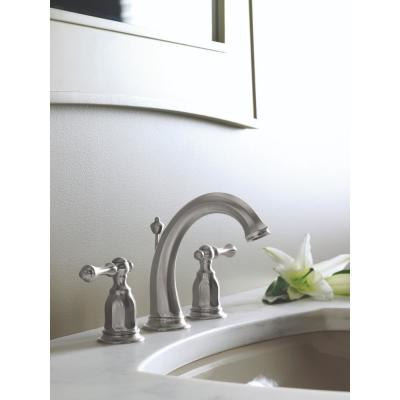 Kelston 8 in. Widespread 2-Handle Low-Arc Water-Saving Bathroom Faucet in Vibrant Brushed Nickel