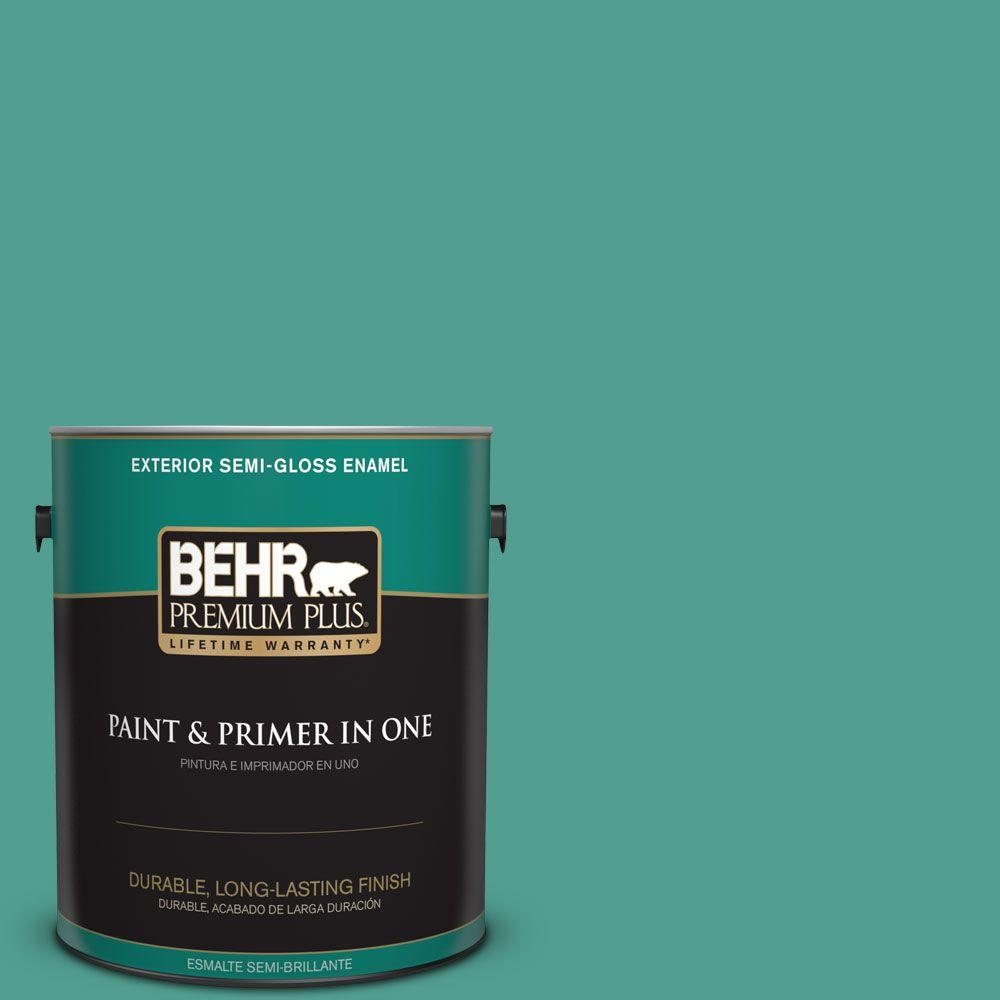 1 gal. #HDC-WR15-9 Aqua Revival Semi-Gloss Enamel Exterior Paint