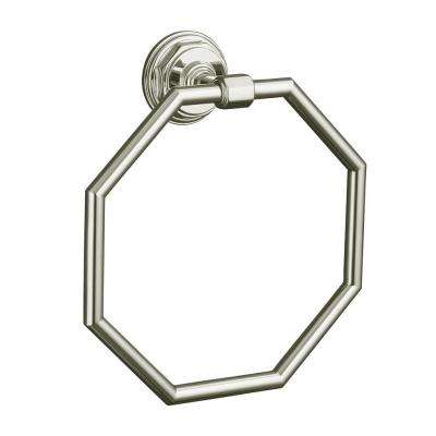 Pinstripe Towel Ring in Vibrant Polished Nickel