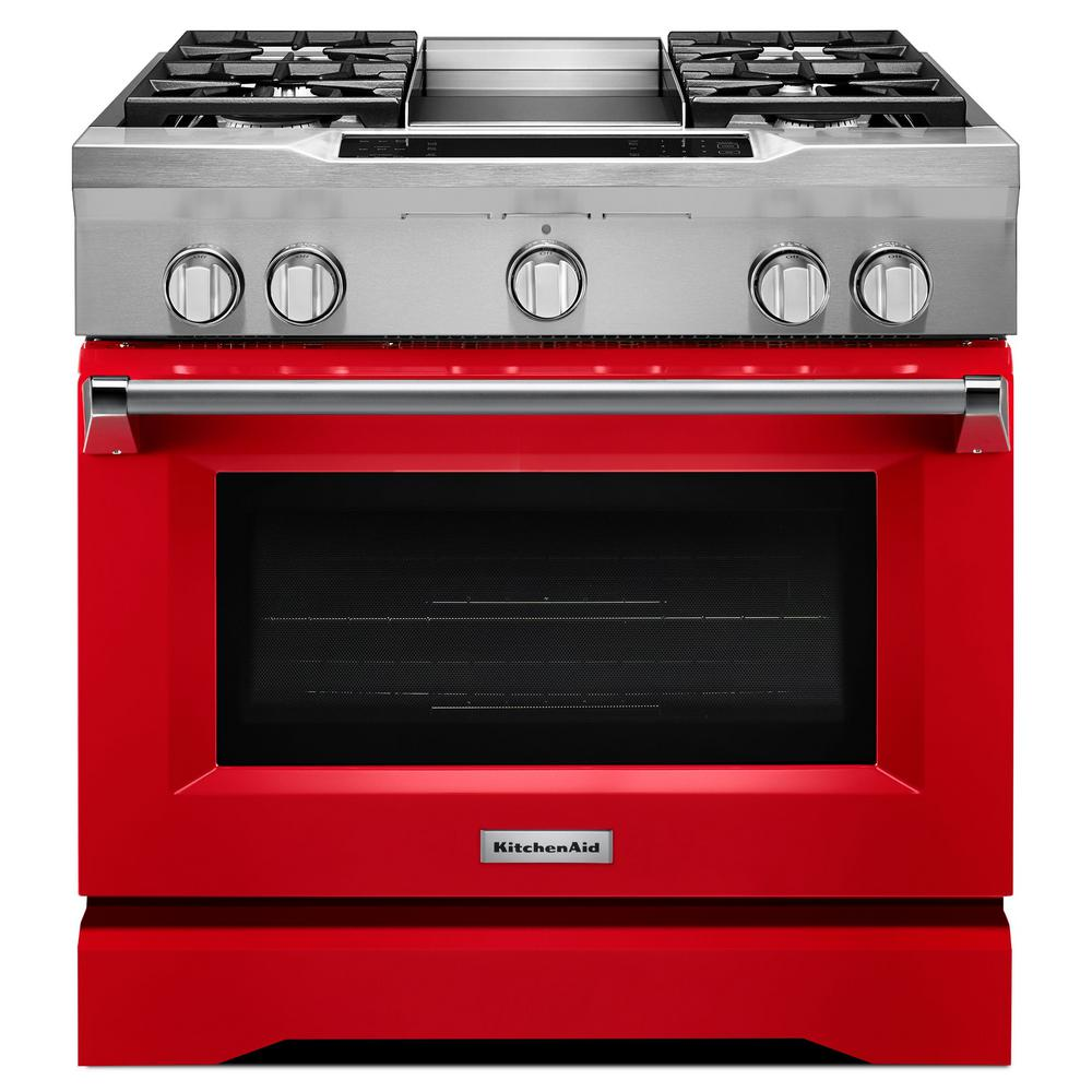 Kitchenaid 5 1 Cu Ft Dual Fuel Range With Convection Oven In Signature Red
