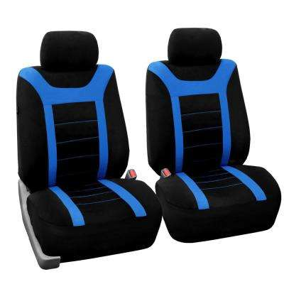Fabric 47 in. x 23 in. x 1 in. Sports Front Seat Covers
