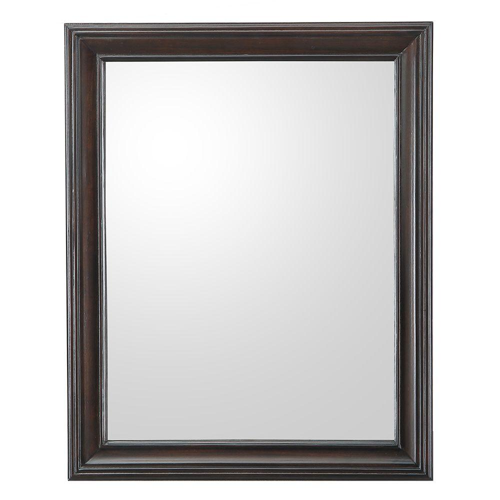 home decorators collection ganado 24 in w x 30 in h single wall hung mirror in burnished. Black Bedroom Furniture Sets. Home Design Ideas