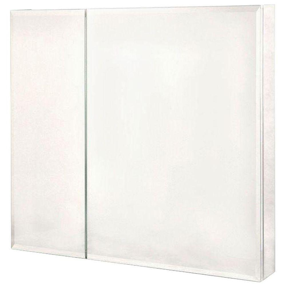 Pegasus 30 in. x 30 in. Frameless Recessed or Surface-Mount Bi ...
