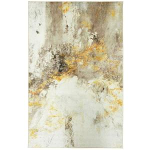 Gold Vein Gray 6 ft. x 9 ft. Abstract Area Rug