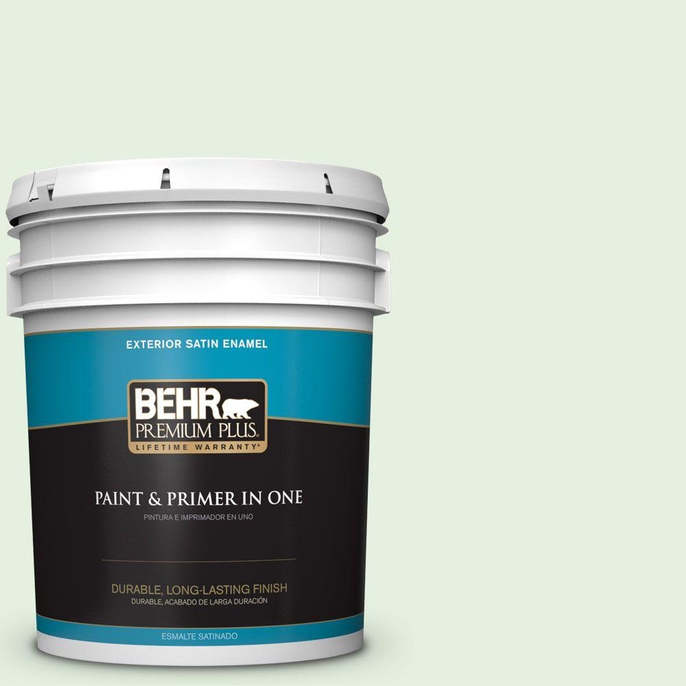 5-gal. #M390-1 Mayfair White Satin Enamel Exterior Paint