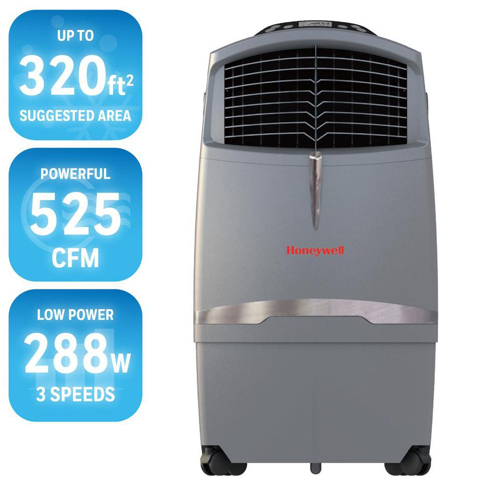 At Home Depot Evaporative Coolers : Honeywell pt cfm speed indoor portable