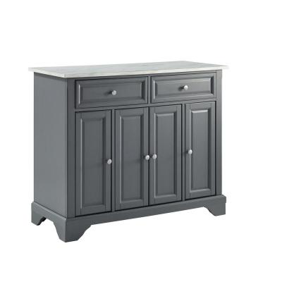 Avery Grey Kitchen Island