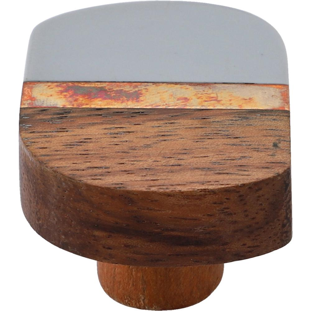 Mascot Hardware Lakewood 1-3/4 in. Grey and Wood Cabinet Knob