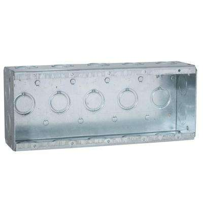5-Gang Masonry Box, 2-1/2 in. Deep with 1/2 and 3/4 in Concentric KO's (10-Pack)