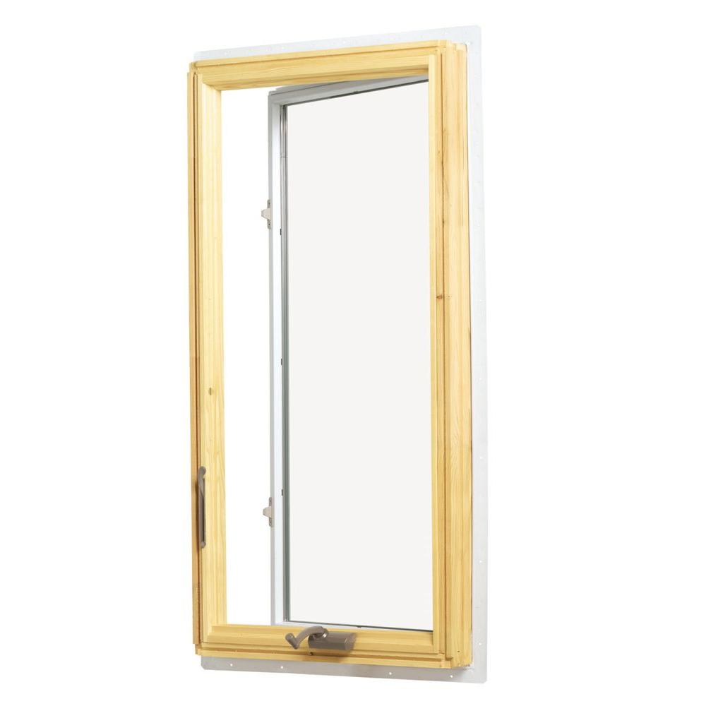 Andersen 28 375 In X 40 813 400 Series Casement Wood Window With White Exterior Left Hand Cw135 L The Home Depot