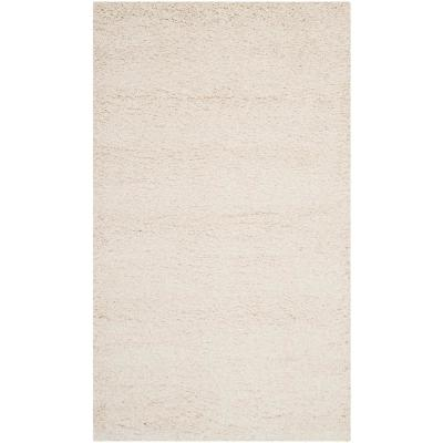 Milan Shag Ivory 3 ft. x 5 ft. Area Rug