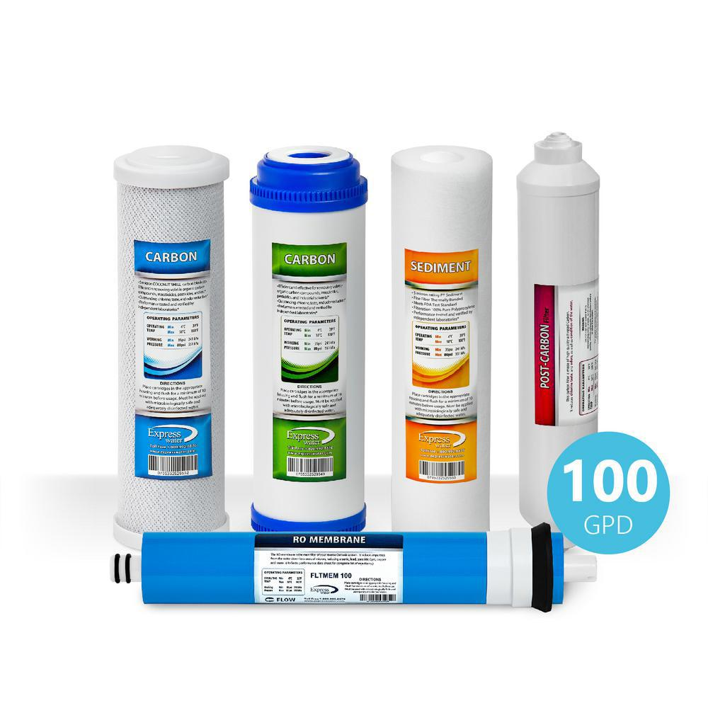 6 Month Reverse Osmosis System Replacement Filter Set - 5 Filters