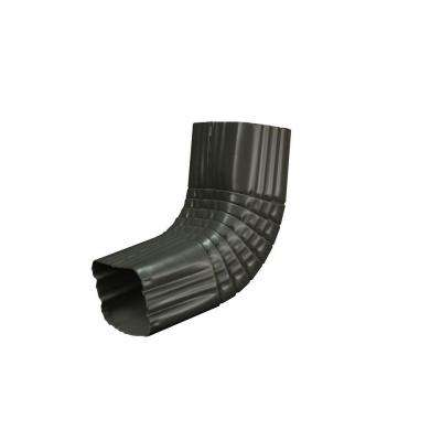 3 in. x 4 in. Tux Gray Aluminum Downspout A Elbow
