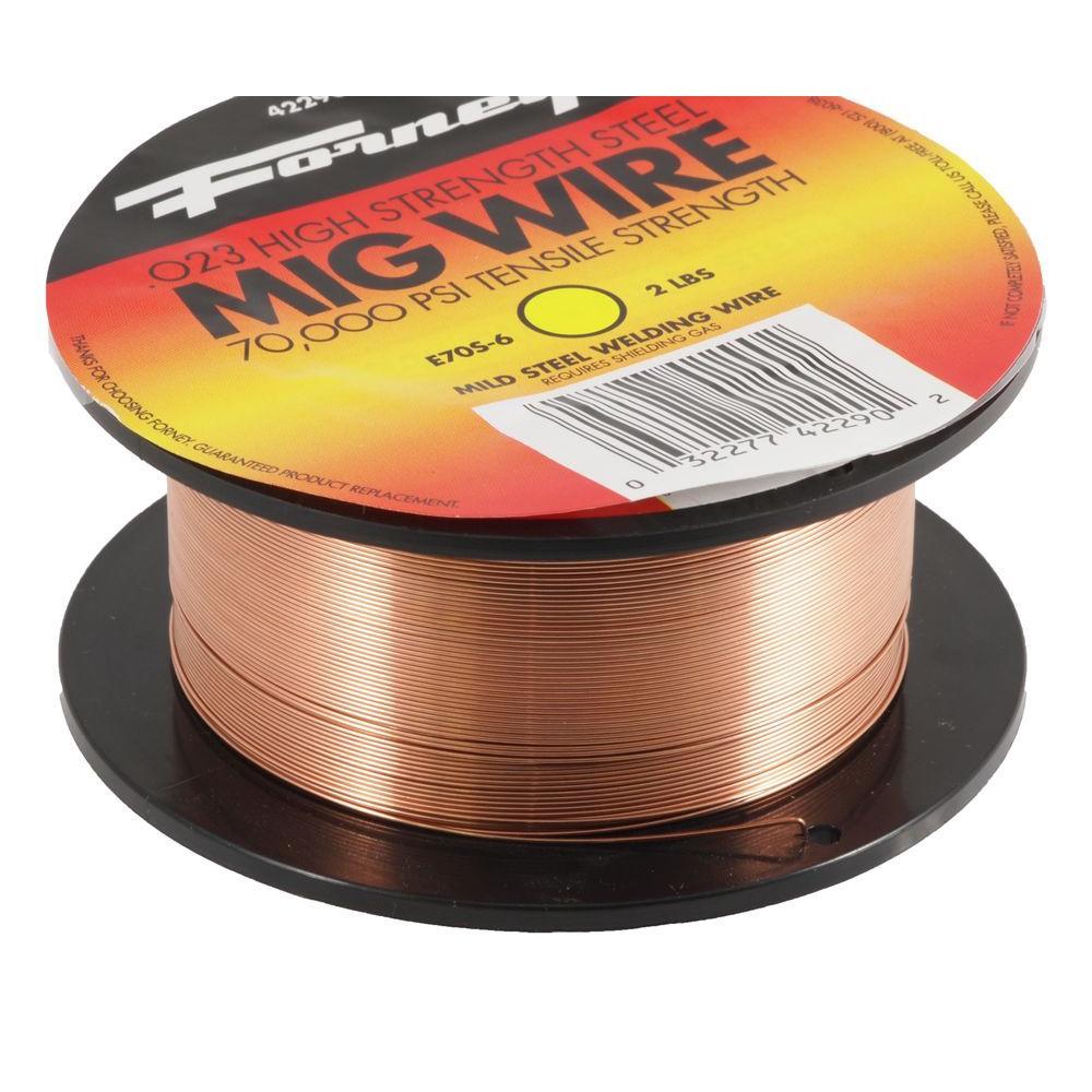 0.024 Dia E70S-6 Mild Steel MIG Wire 2 lb. Spool
