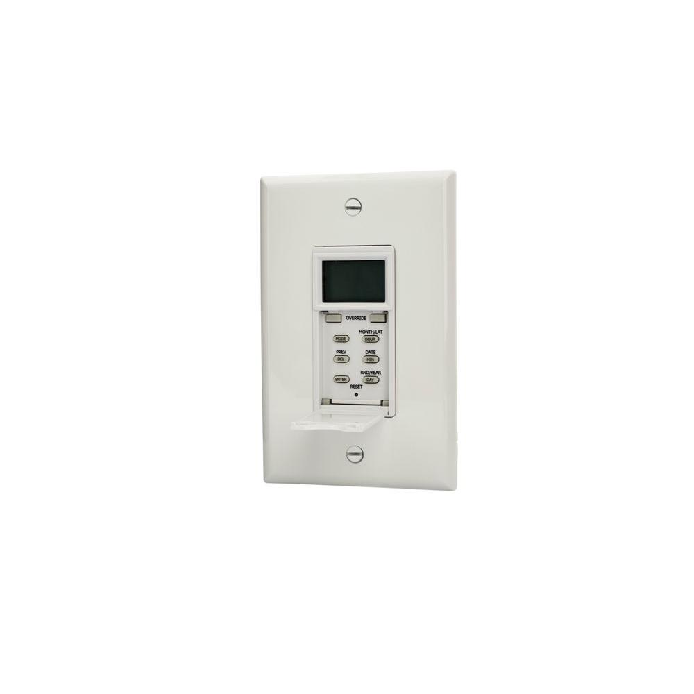 TORK SunSet 120/277 VAC In-Wall Individual Daily Programs/Minimum Setting 1-Minute Astronomic Timer - White