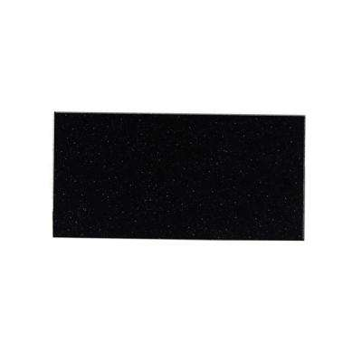 Peel and Stick Glittered Black Nightsky Glass Wall Tile - 6 in. x 3 in. Tile sample