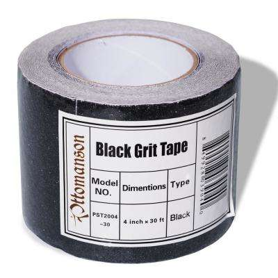 Safety Treads 4 in. x 30 ft. Black Adhesive Backing Carpet Tape