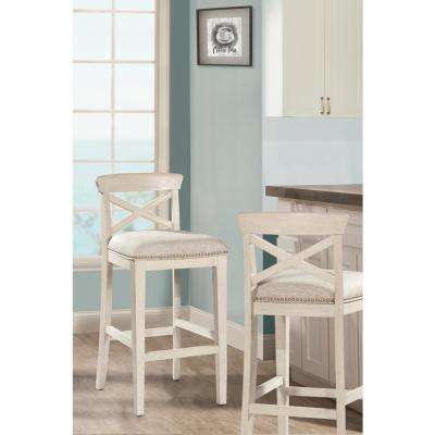 Bayview White Non Swivel Counter Stool (Set of 2)