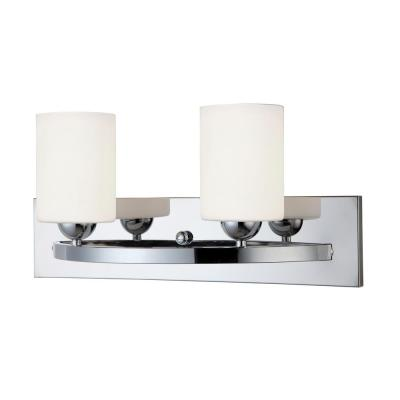 Hampton 2-Light Chrome Bath Light