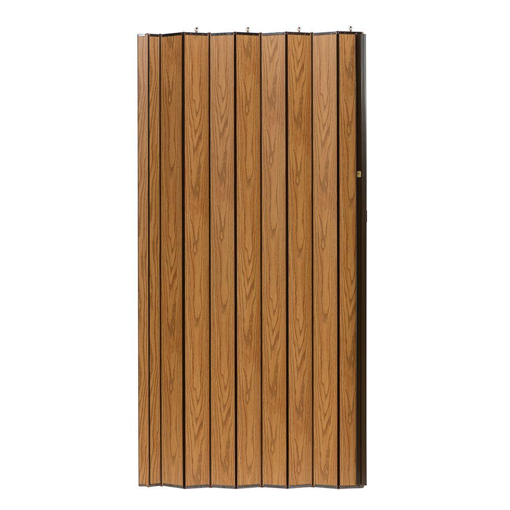 48 in. x 80 in. Woodshire Vinyl-Laminated MDF Light Oak Accordion
