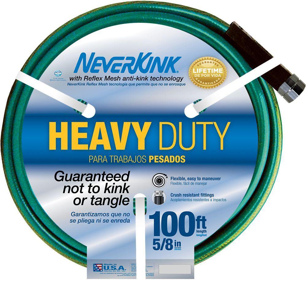 Neverkink 5/8 in. Dia x 100 ft. Heavy Duty Water Hose