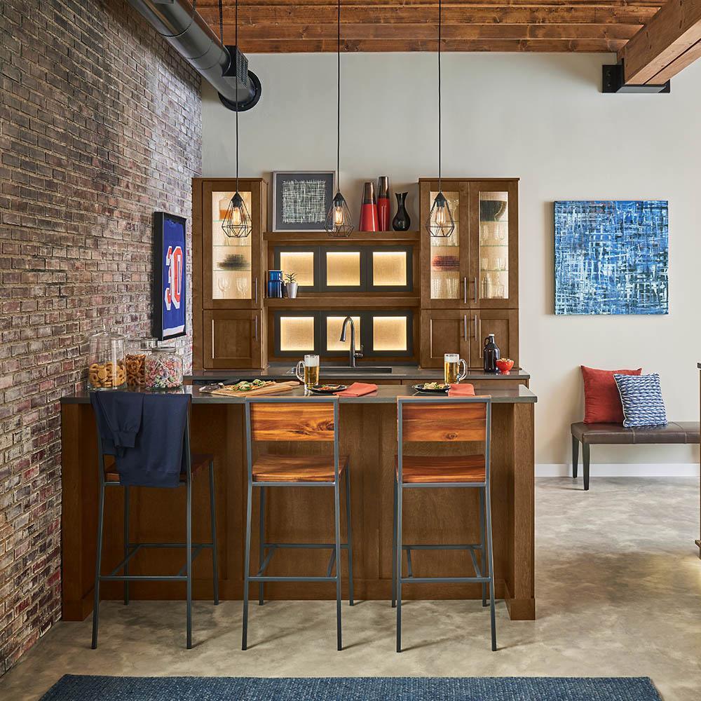 American Woodmark Custom Kitchen Cabinets Shown in ...
