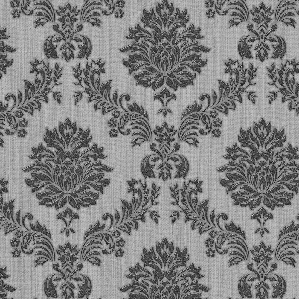 Black and Gray Jacquard Wallpaper