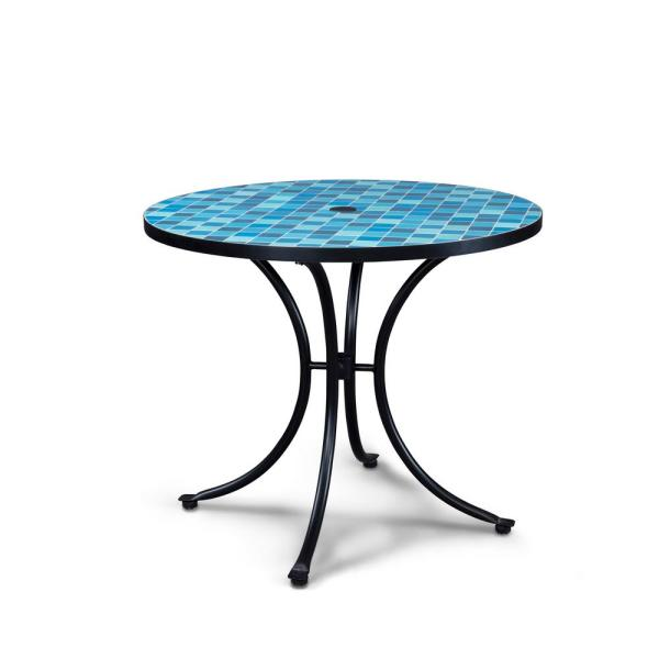 Black Round Outdoor Bistro Table