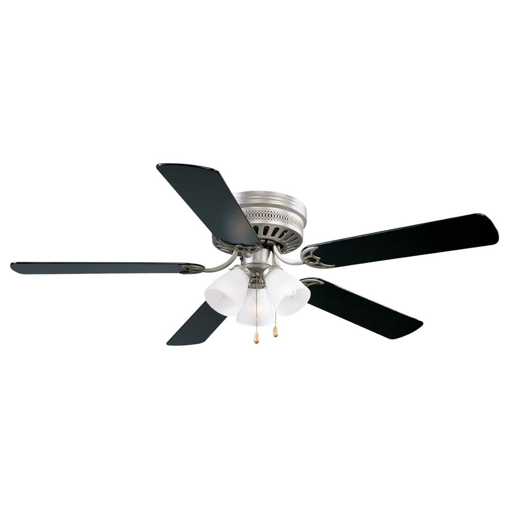 Satin Nickel Hugger Ceiling Fan