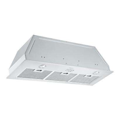 36 in. 420 CFM Ducted Built-In Range Hood with Halogen in Stainless Steel