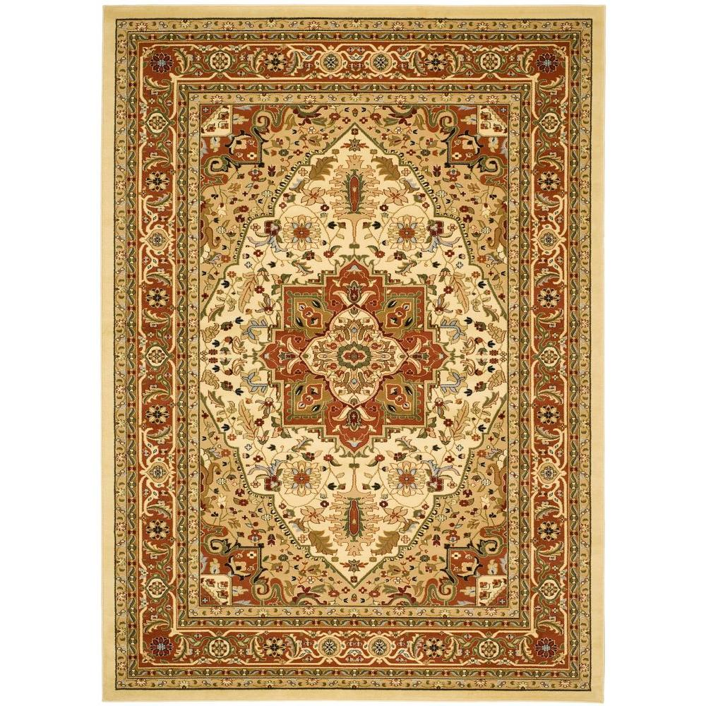 Safavieh Lyndhurst Ivory Rust 8 Ft X 11 Area Rug