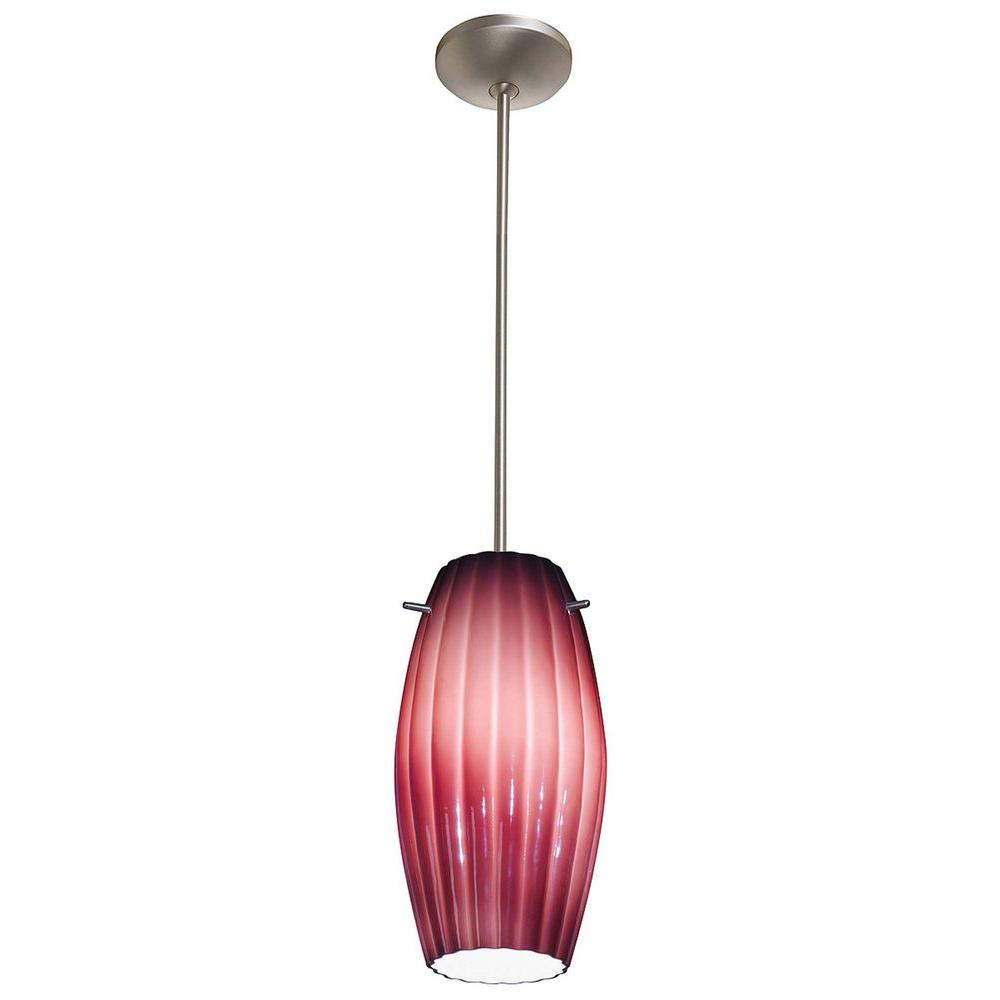 Access Lighting 1-Light Pendant Satin Finish Plum Glass-DISCONTINUED